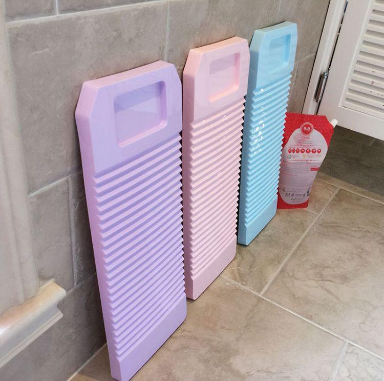 厂家直销金盾日用塑料制品塑料搓衣板 背部横纹加固