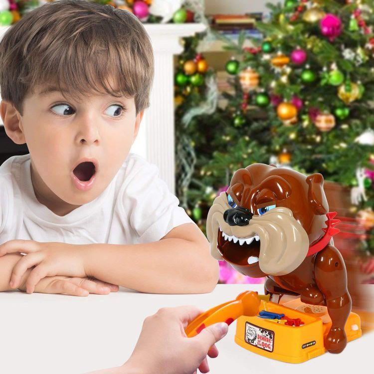 小心恶犬儿童桌面游戏整蛊玩具搞笑创意礼物 大号恶狗咬手指