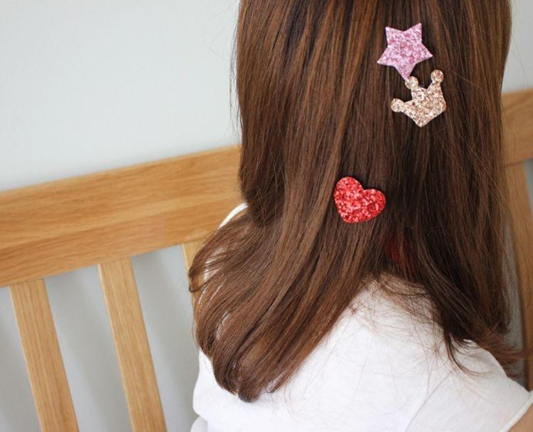 韩版新款儿童固定魔术贴亮片发夹 女孩刘海碎发发帖 万能魔术贴