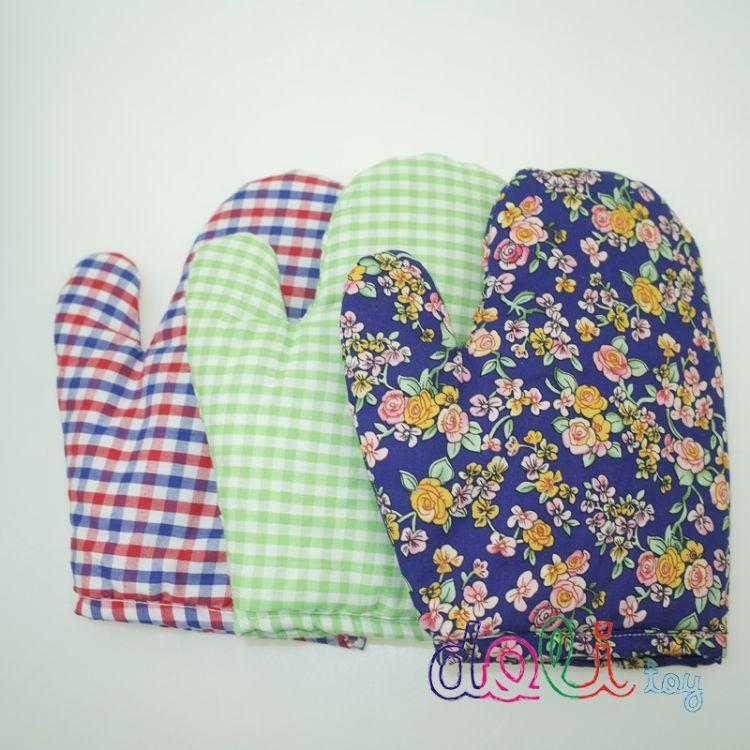 花布纯棉隔热手套 微波炉防烫手套定制加工 配套礼品供应生产