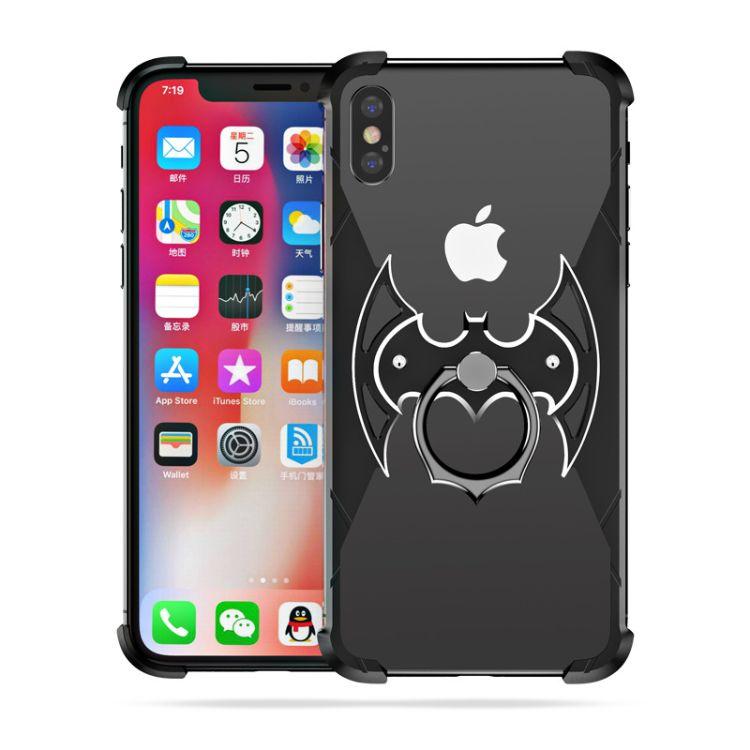 派凡iphoneX手机壳适用于XR/XSmax手机金属边框防摔定制蝙蝠侠壳
