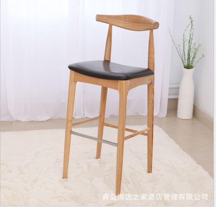 四脚吧椅高脚椅凳 休闲实木酒吧椅 时尚简约 厂家直销