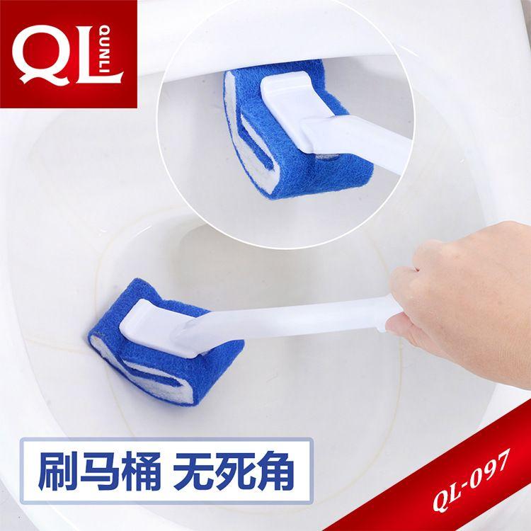 日式免洗剂马桶刷软毛长柄刷卫生间便池清洁刷含磨剂洁厕坐便器刷