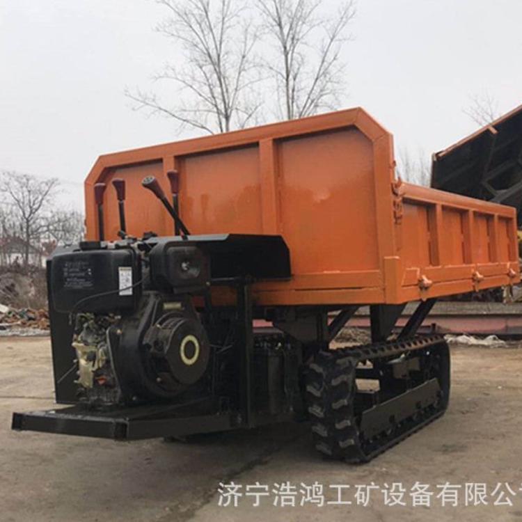 浩鸿自卸式履带运输车 农用小型四不像运输车厂家直销
