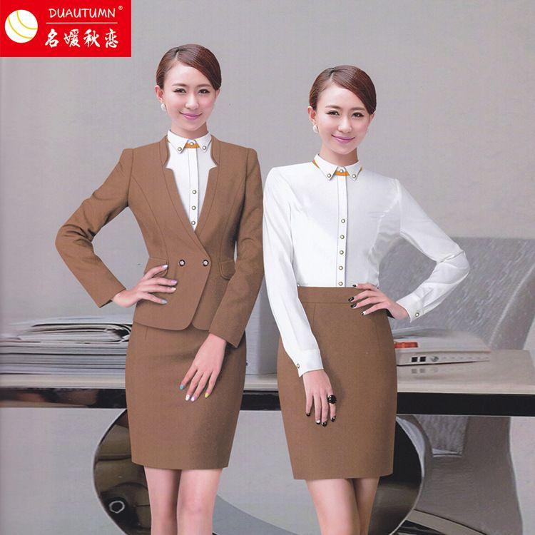 公司女装工作服 女套装教师可定制职业装女套装多种颜色选择