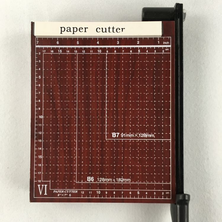 切纸刀A5 手动裁纸机 名卡照片厚木质底座裁相器 办公用品文具