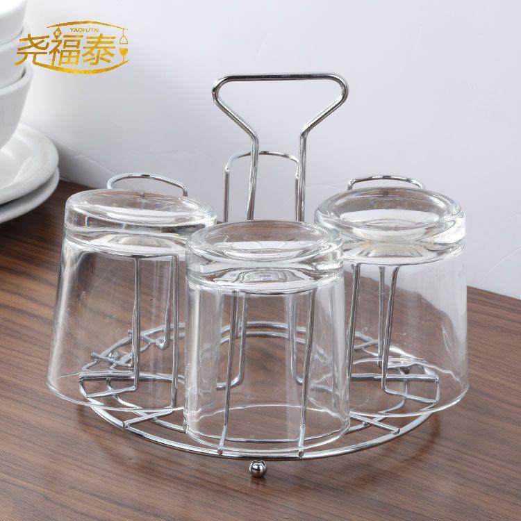 厂家直销 厨房收纳金属杯架 货源充足 家居置物快速沥水玻璃杯挂