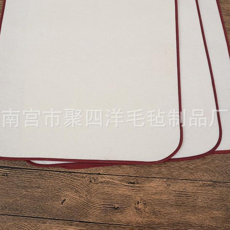 【聚四洋】长期供应定制款包边加厚白灰色书画毛毡 书法画布