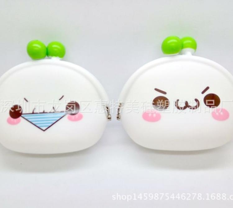 韩版颜文字零钱包 萌表情硅胶硬币包软面小手拿包 可爱钥匙钱包