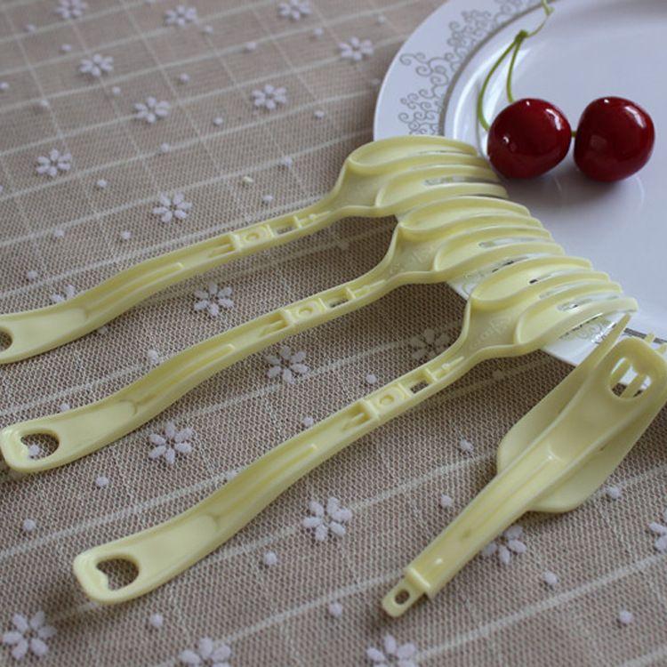 瑛琪 供应一次性塑料四齿折叠泡面专用叉 多功能叉