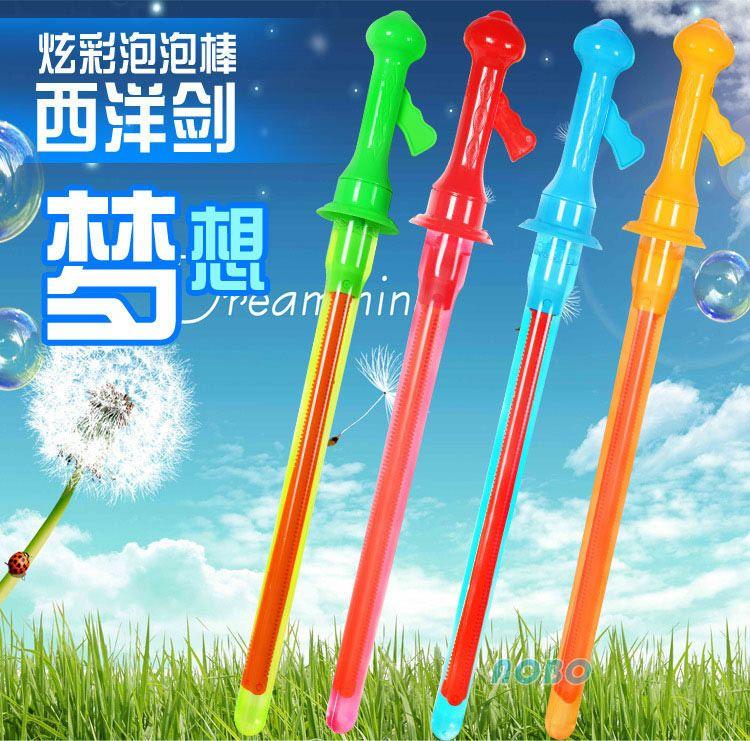 46cm西洋剑泡泡棒传统儿童玩具吹泡泡夏日公园地摊热卖玩具批發