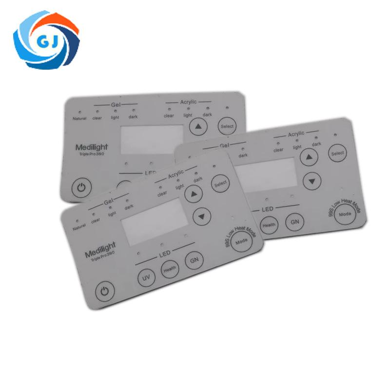 厂家定制PC薄膜面板 PVC 开关面板按键 环保防水仪器 按键