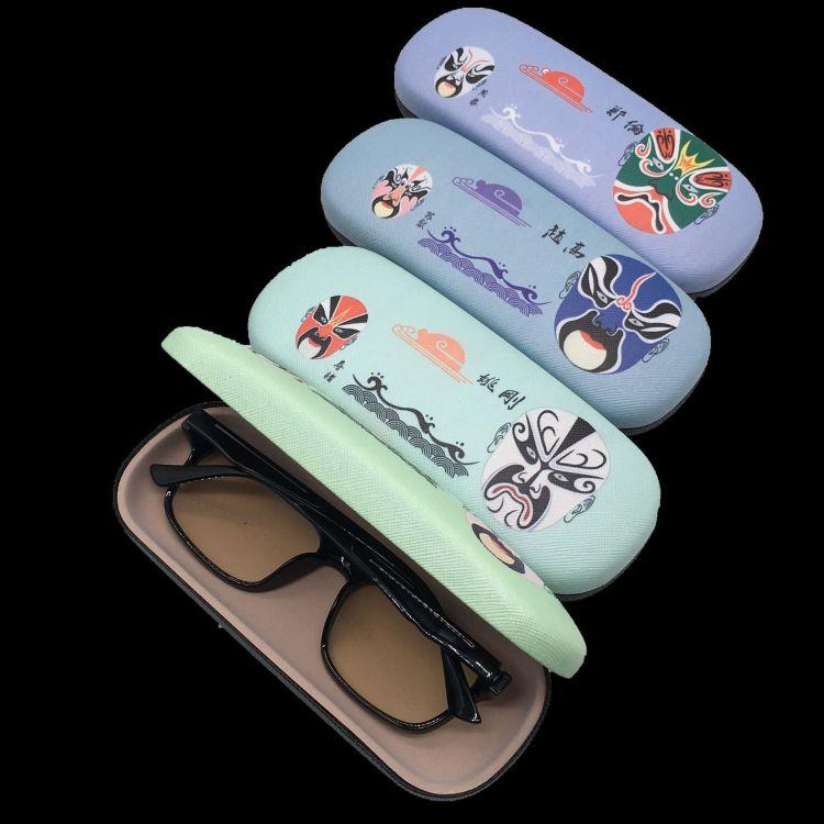 厂家直销卡通款近视眼镜盒定制皮质铁盒男女款创意简约时尚印logo