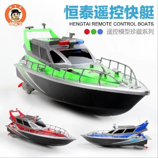 遥控船 厂家直销批发四通道充电遥控模型玩具 警查快艇