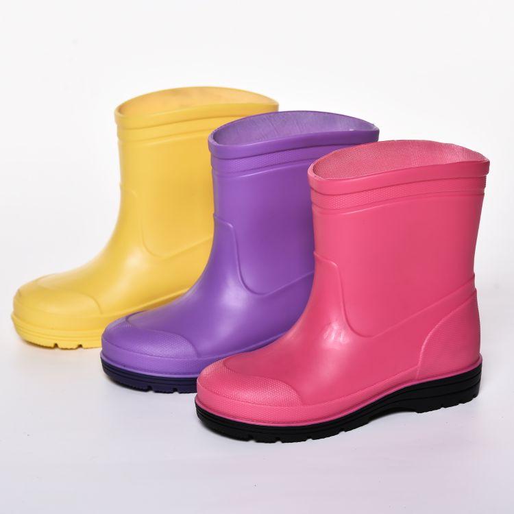 外贸定制儿童雨 PVC雨鞋超轻防滑宝宝雨靴外贸出口