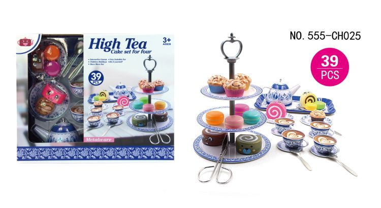 厂家直销爆款儿童过家家餐厨玩具下午茶糕点架套装3个款式