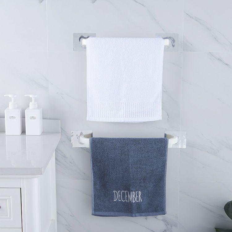 免打孔无痕毛巾架 卫生间浴室毛巾置物架 创意小号创意收纳架直销