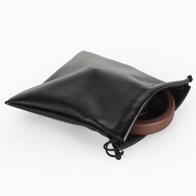 厂家批发pu束口袋环保防水袋皮革电子产品防水包装袋可印logo定制