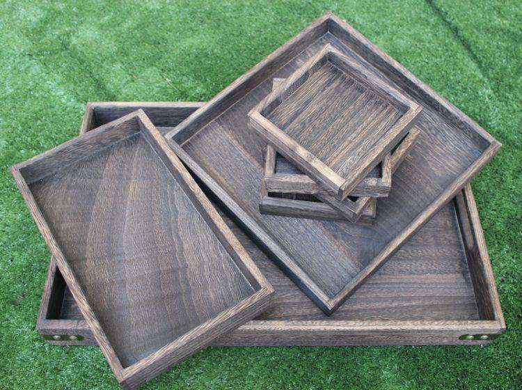 創意木質茶盤 新款木質工藝托盤茶盤
