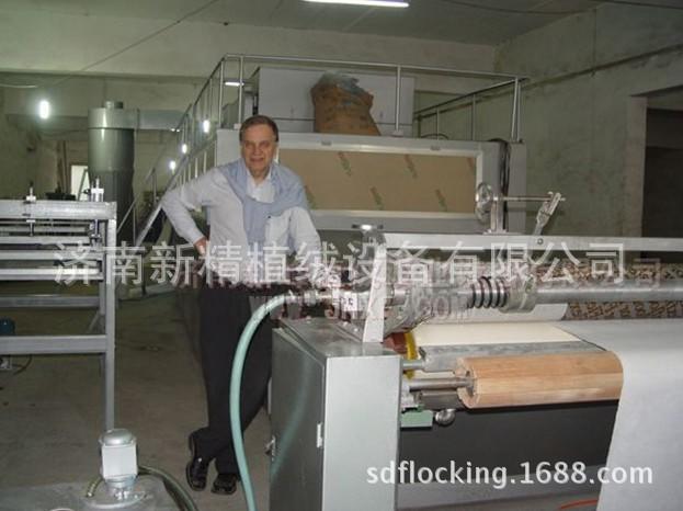 [济南新峰]供应橡胶地毯地垫静电植绒机 全自动植绒流水线