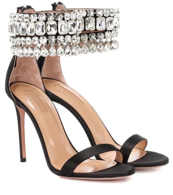欧美手工镶嵌水钻真皮高跟鞋走秀高级定制奢华宴会派对新娘女鞋