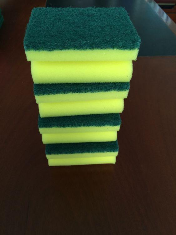 洗碗布抹布刷锅海绵擦百洁布 不沾油强力去污清洁洗碗布凹槽型