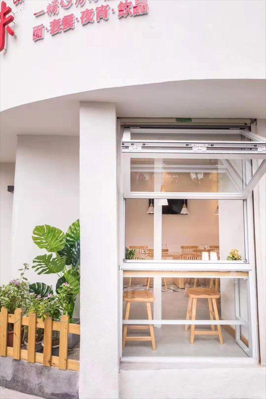 南京上下折叠窗 南京临街店铺折叠窗 定做上悬窗厂家