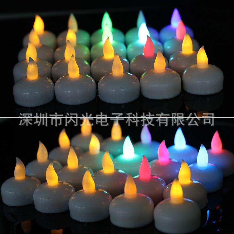 供应发光防水电子蜡烛 led入水亮电子蜡烛 烂漫气氛用品