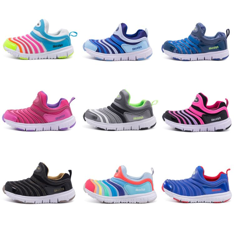 2018夏季外贸品牌运动鞋毛毛虫童鞋单网透气宝宝鞋学步儿童跑步鞋