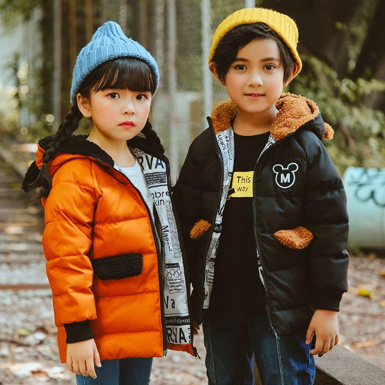 儿童羽绒服男女童中长儿童款加厚羽绒服厂家直销