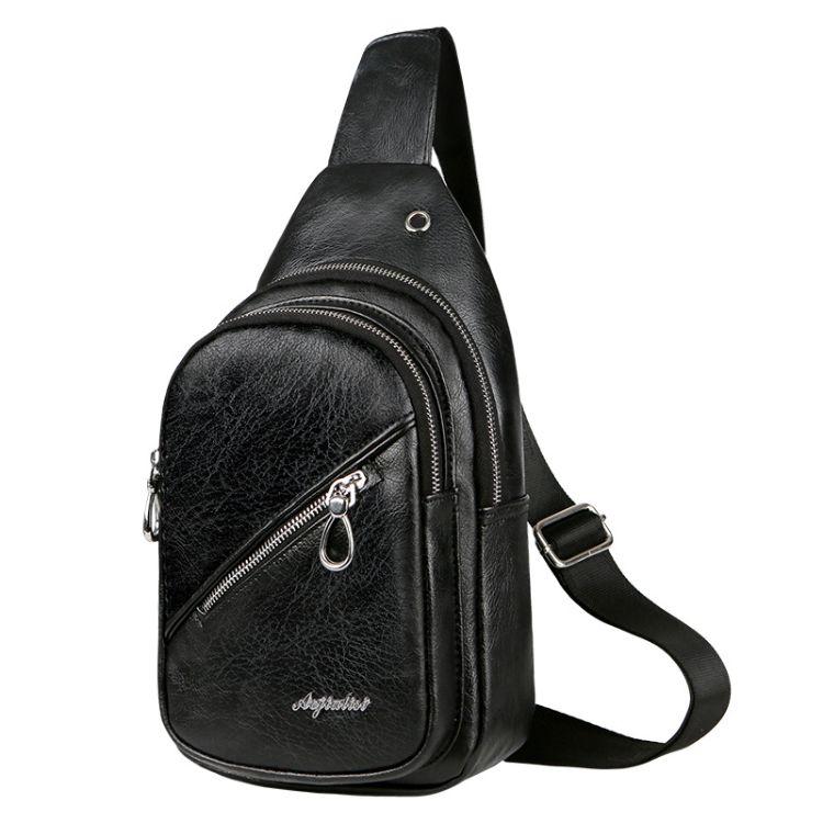 定制韩版休男士胸包单肩斜挎包户外休闲多功能骑行小包运动胸前包