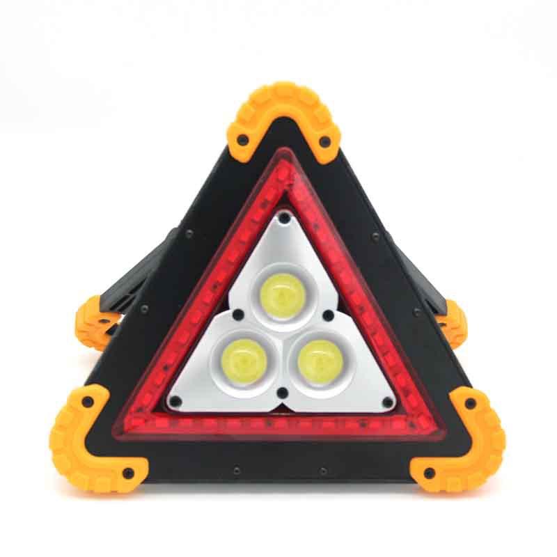 车载三角架警示牌危险故障停车牌COB露营灯投射灯投光灯车修理灯