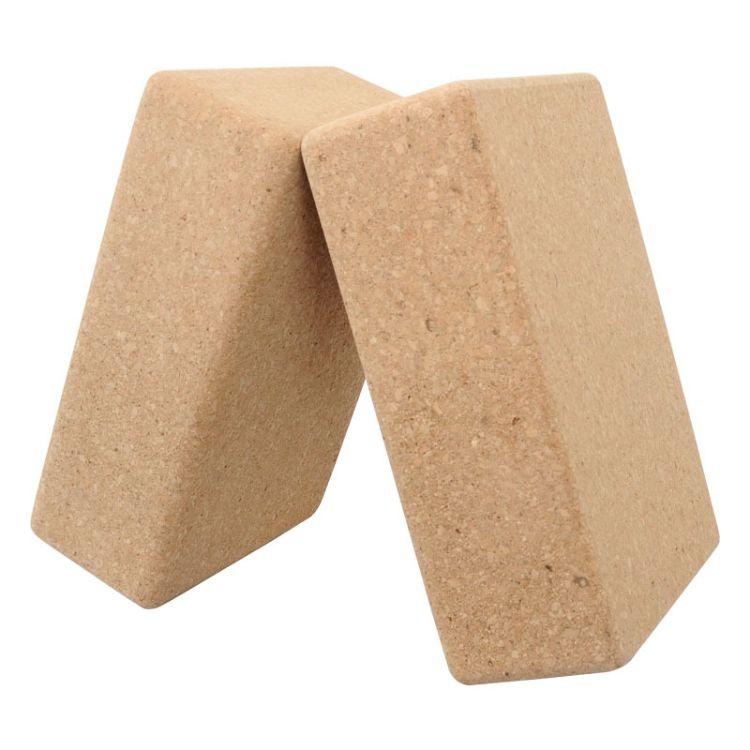 厂家直销高密度软木瑜伽砖 环保瑜珈舞蹈砖辅助砖块批发定制logo