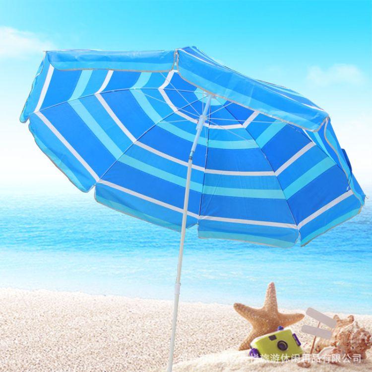 厂家供应 防风转向沙滩伞  户外涤丝遮阳伞沙滩 太阳伞定制 印刷