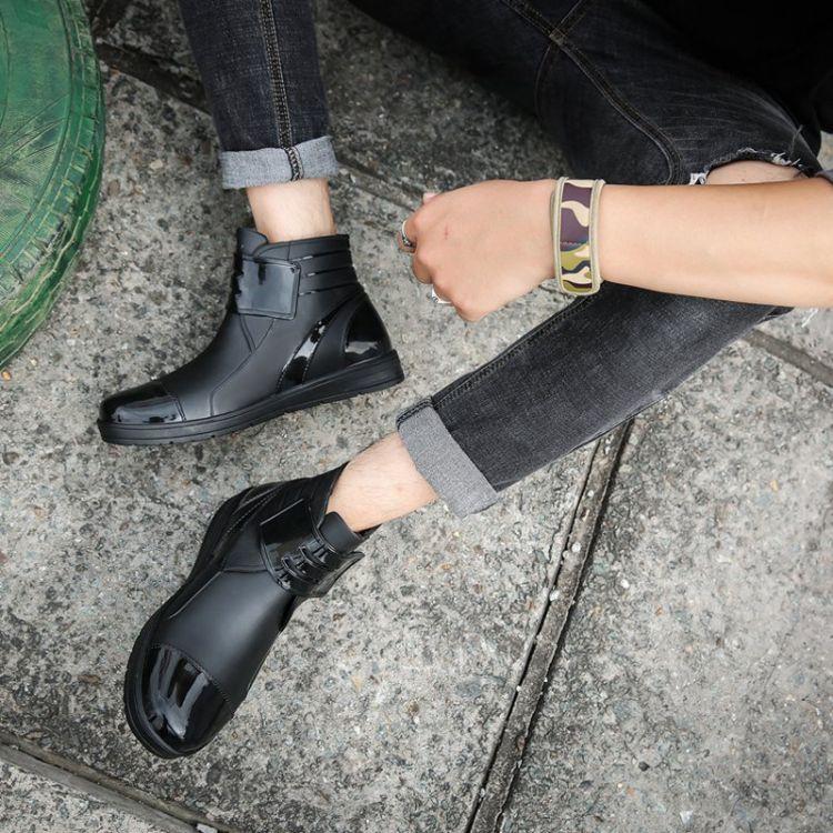 韩国短筒雨鞋男低帮雨靴防滑洗车水鞋胶鞋防水潮厨师男流套鞋