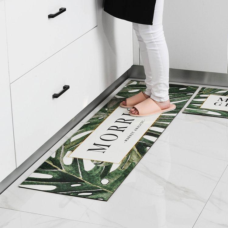 2018北欧厨房地垫防油防水防滑脚垫玖悦家用耐脏地毯工厂直销