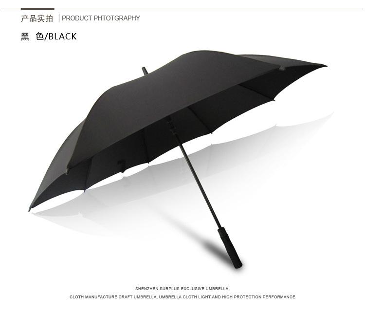 雅盈厂家直销27寸优雅高端自动高尔夫直柄伞不生锈纤维直杆晴雨伞