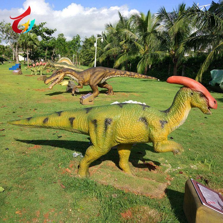 厂家定制大型仿真恐龙电动机械物游乐园园林商场广场公园户外摆件