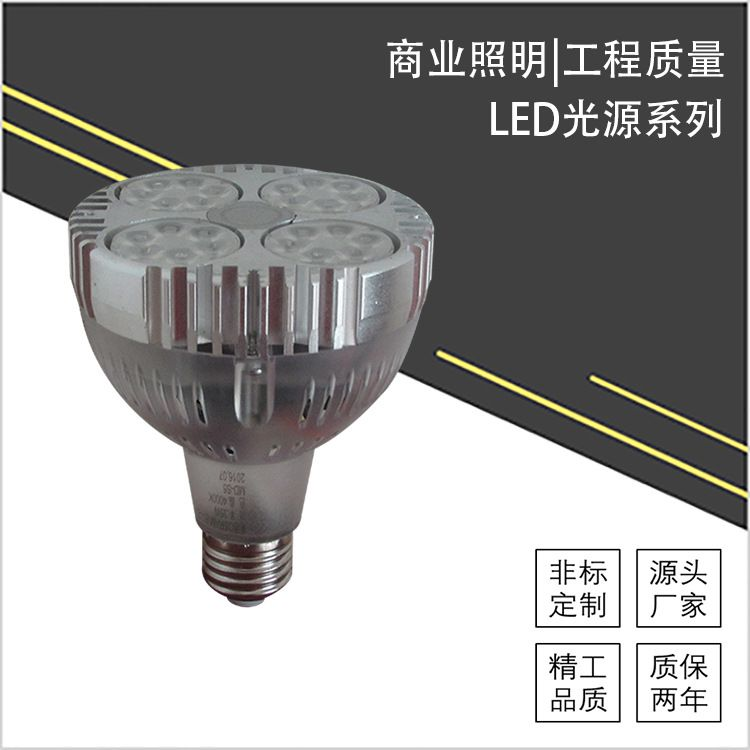 厂家直销LED轨道射灯 PAR30光源欧司朗芯片服装店Par30轨道灯直销