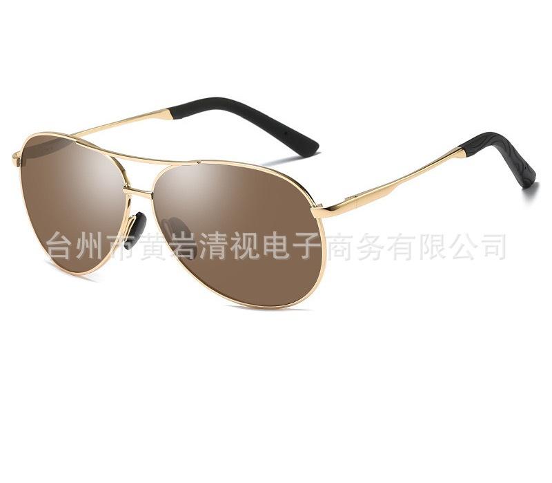 爆款太阳镜 男偏光太阳镜男士驾驶眼镜 弹簧腿炫彩墨镜 司机眼镜