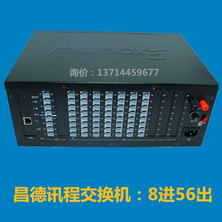 酒店程控电话56口4外线56分机昌德讯CDX8000-TS456内线来电送总机