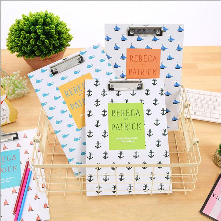 创意A4坚款学生试卷资料夹板 收纳清新日记单板夹办公用品文件夹