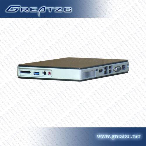 超薄高清电脑 赛杨双核1037U DC19V供电仅25MM厚 钢琴烤漆JTX主板