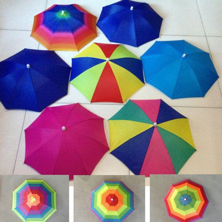 厂家直销儿童雨伞遮阳伞钓鱼 伞帽 地摊热卖货源儿童帽伞批发