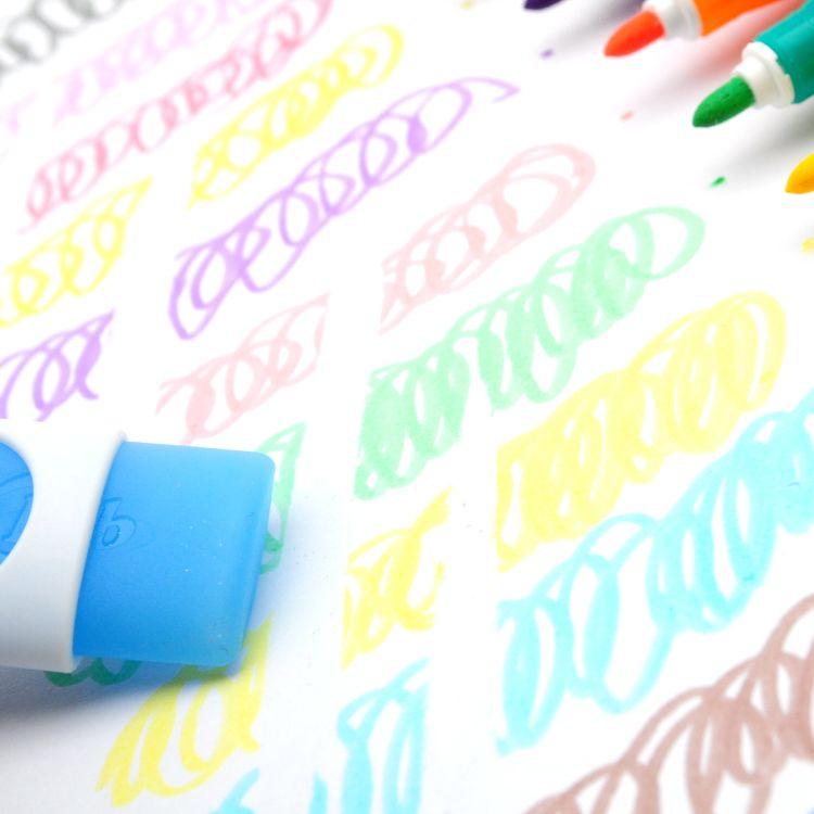 夏梅可擦水彩笔 儿童绘画笔学生可水洗彩笔幼儿园涂鸦 一件代发