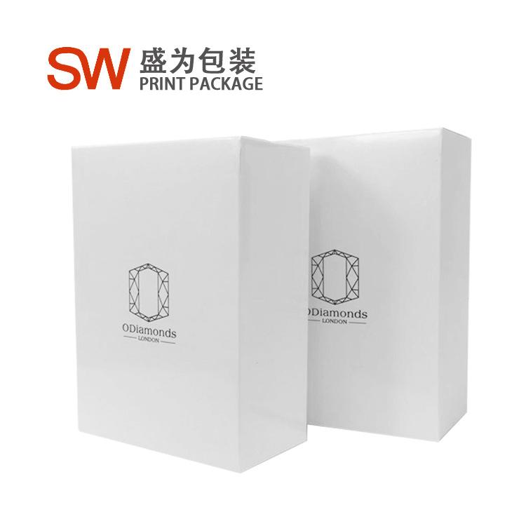 现货供应白卡300克日常包装盒卡盒高档护肤品盒可订制 加印LOGO