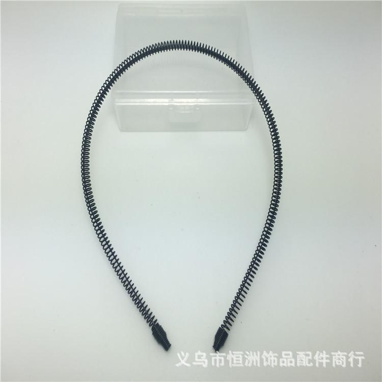 淘宝爆款 弹簧发箍烤漆头箍韩版新款DIY发饰配件材料 厂家直销