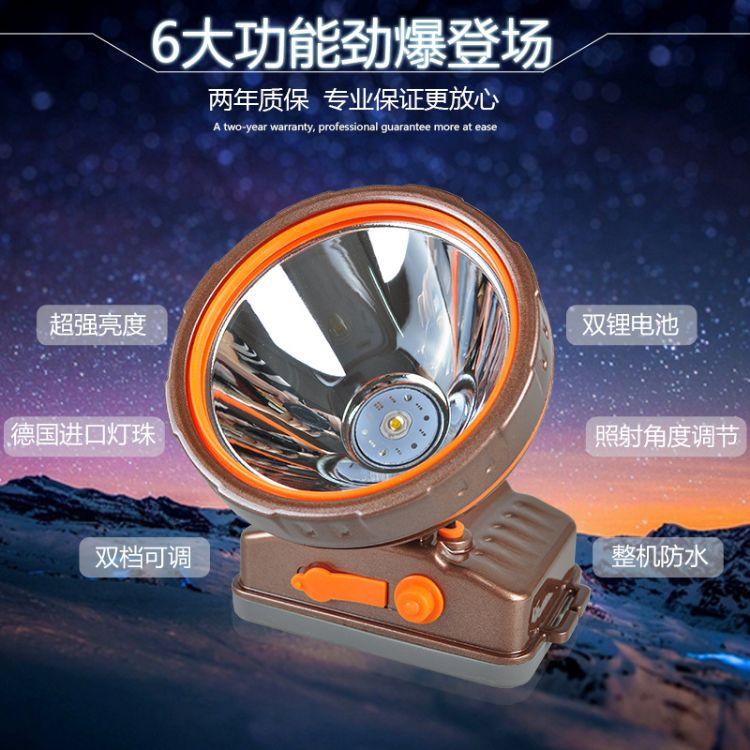 电狼锂电头灯DL-1358 双锂电 强光 野外户外探险 菜农巡逻头灯
