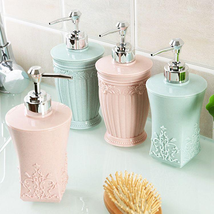 阮赞欧式雕花立体沐浴露分装瓶洗手液瓶子洗发水空瓶按压瓶乳液瓶