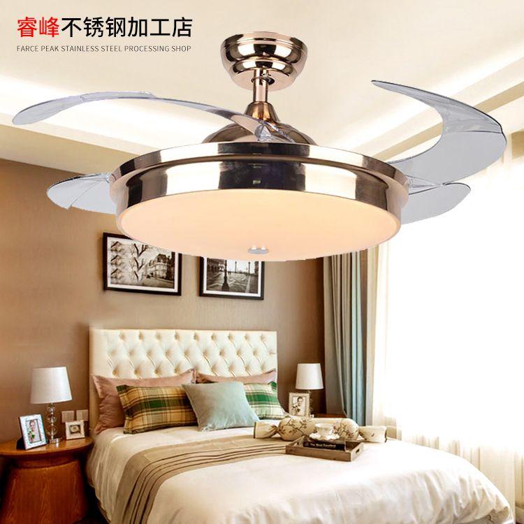 风之缘厂家现代简约隐形风扇灯客厅餐厅卧室书房北欧超薄吊扇灯